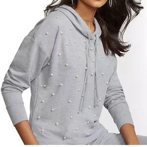 NY&CO Faux-Pearl Hooded Sweatshirt - Soho Street